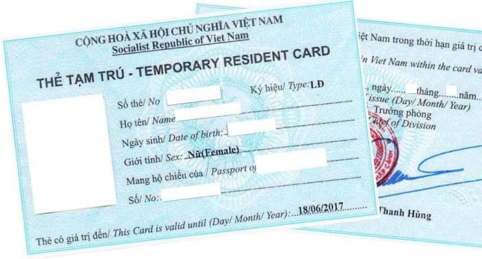 Thẻ tạm trú là loại giấy tờ cấp cho người nước ngoài được phép cư trú có thời hạn tại Việt Nam và có giá trị thay thị thực (visa).
