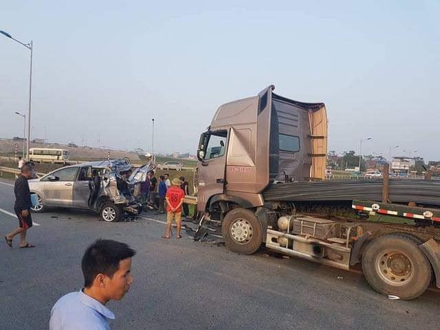 Hiện trường vụ tai nạn trên đường cao tốc Hà Nội - Thái Nguyên - Ảnh: Tư liệu