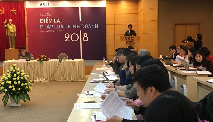 Hội thảo báo cáo dòng chảy pháp luật kinh doanh được VCCI tổ chức sáng 15/1