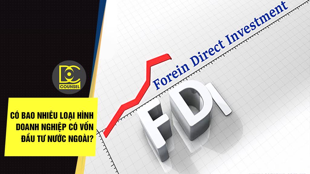 Có bao nhiêu loại hình doanh nghiệp có vốn đầu tư nước ngoài?
