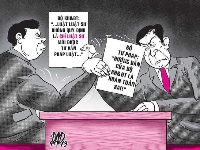 Tranh cãi quyền hành nghề dịch vụ pháp lý giữ bên 2 Bộ